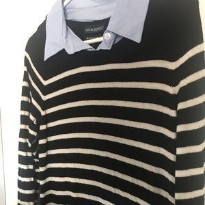 Cynthia Rowley sweater dress. Black and white
